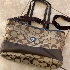 Coach signature diaper tote / bag